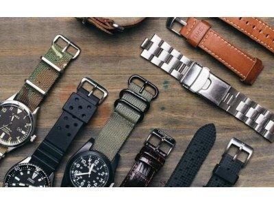 <Виды материалов для ремешков на часы