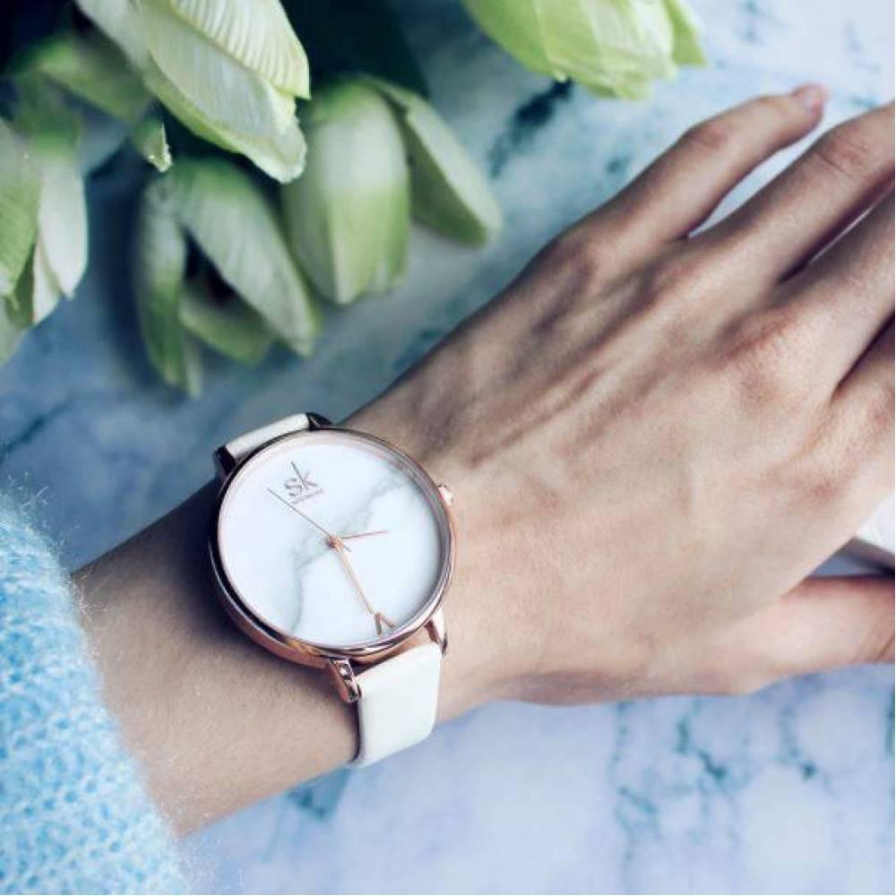 Женские Часы наручные SK, белые 2524