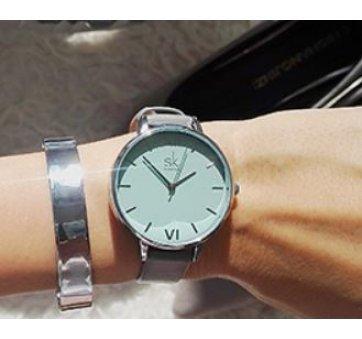 Женские Часы наручные SK, голубые 2527