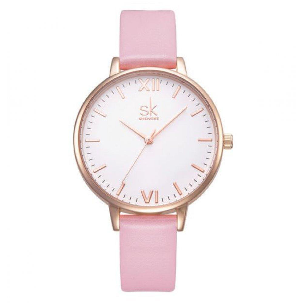 Женские Часы наручные SK, розовые 2528