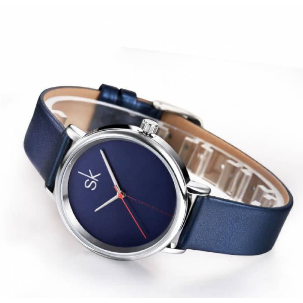 Женские Часы наручные SK, синие 2534