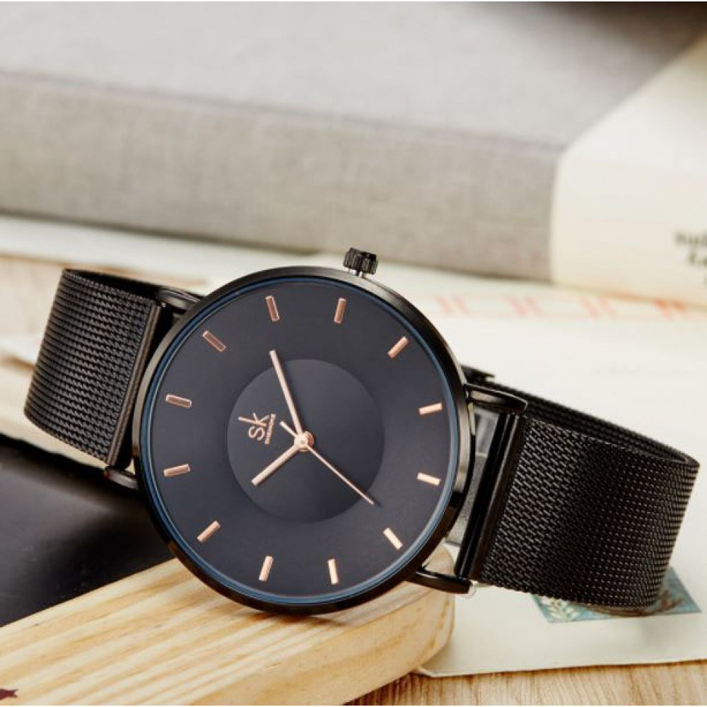 Женские Часы наручные SK, черные 2535