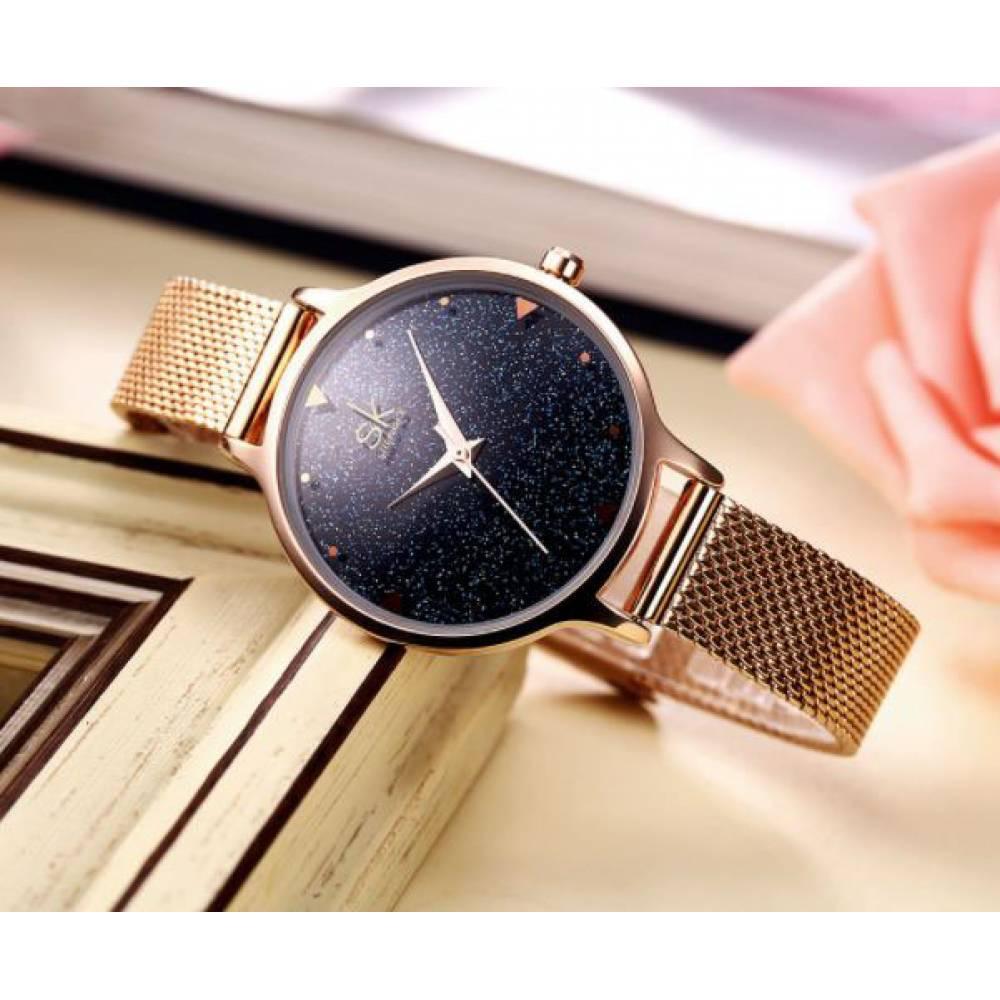 Женские Часы наручные SK, золотистые 2537
