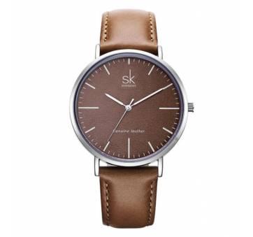 Женские Часы наручные SK, коричневые 2538