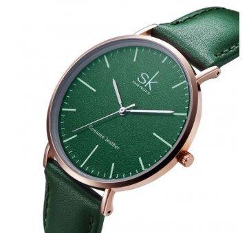 Женские Часы наручные SK, зеленые 2540