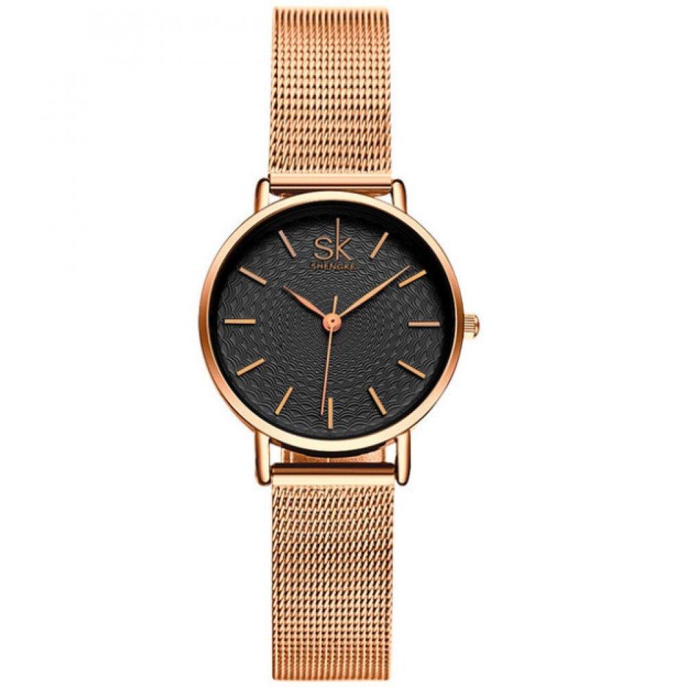 Женские Часы наручные SK, золотистые 2545