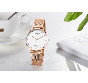 Женские Часы наручные DOM, золотистые 2614