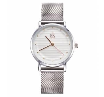 Женские Часы наручные SK, серебристые  2547