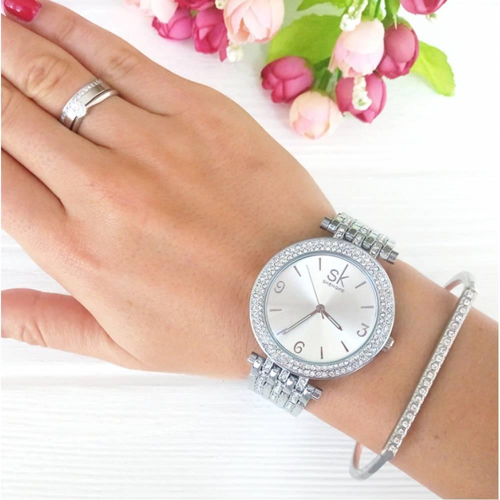 Женские Часы наручные SK, в камнях 2546