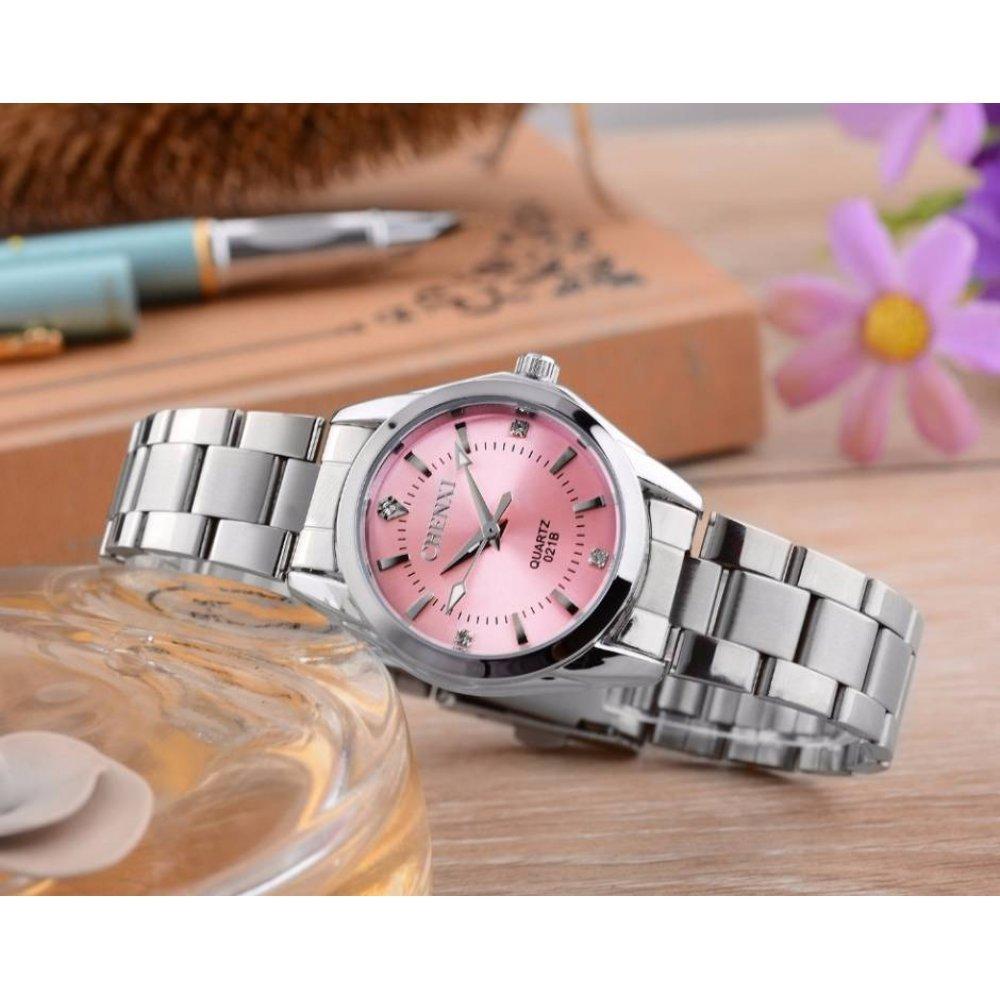 Женские Часы наручные CC розовые 2620