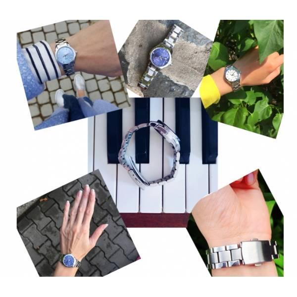 Часы CC голубые 2621