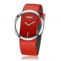 Часы люкс DOM красные