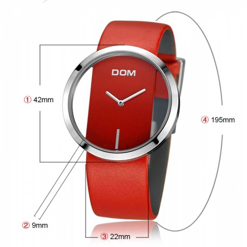 Женские Часы наручные DOM красные 2631