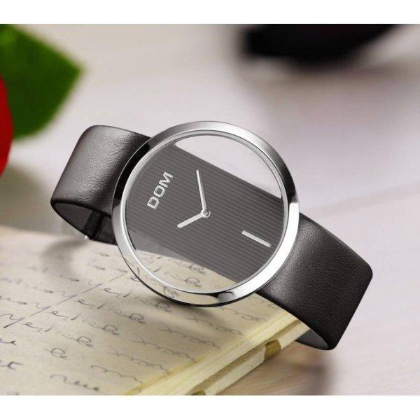 Часы люкс DOM черные 2632