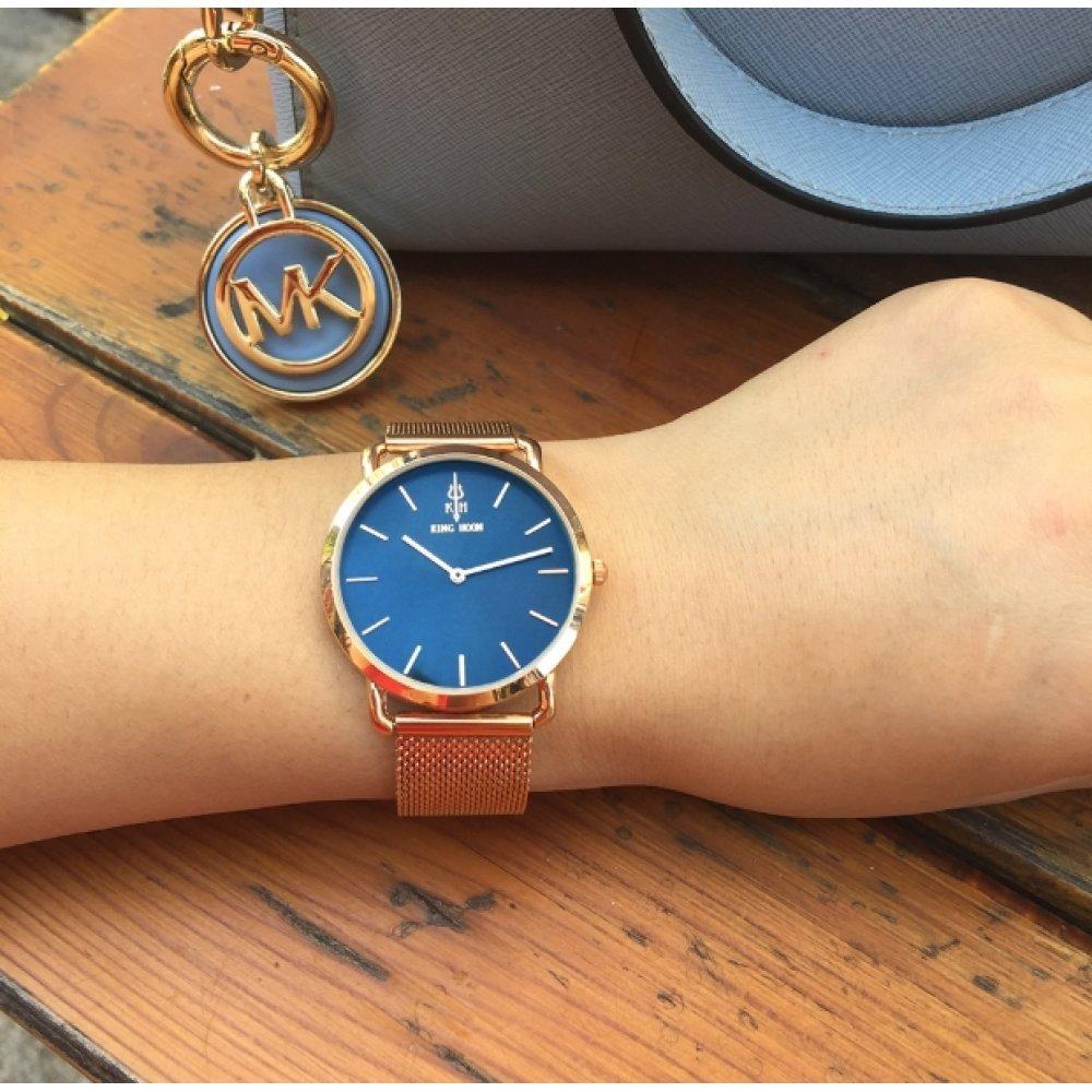 Женские Часы наручные KH серебристые с синим 2645