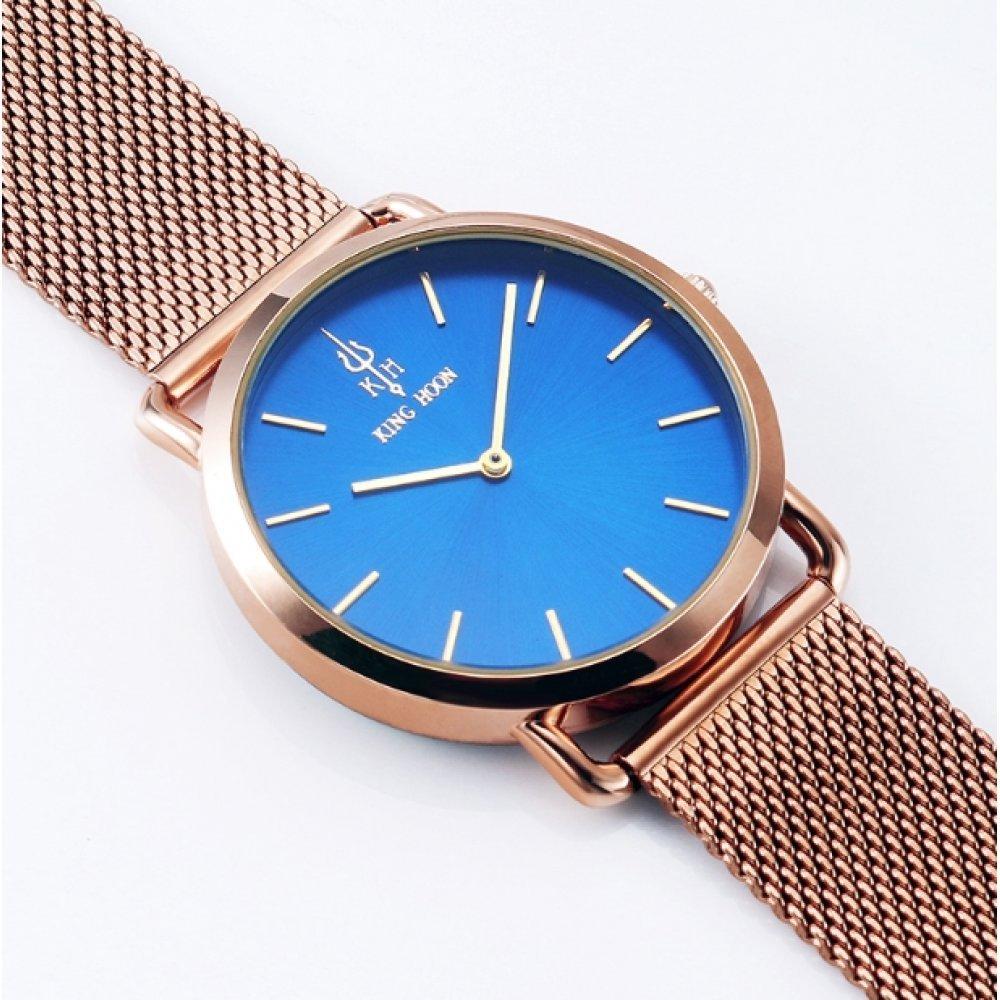 Женские Часы наручные KH золотые с синим 2646