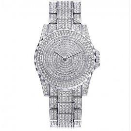 Часы KH в камнях белые
