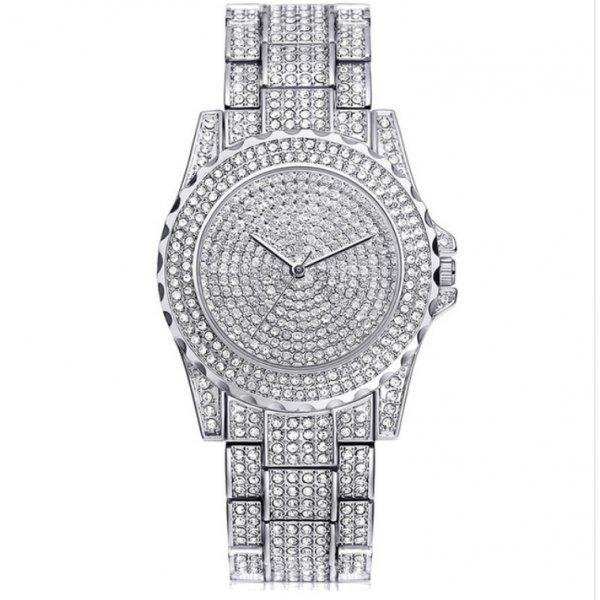 Часы KH в камнях белые 2649