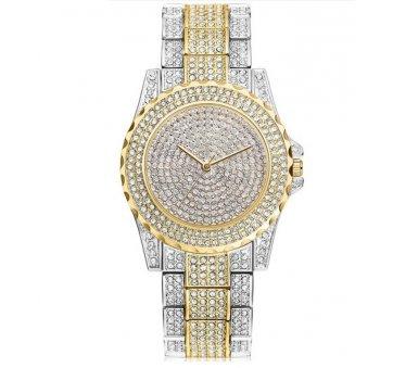 Женские Часы наручные KH в камнях белые с золотым 2650
