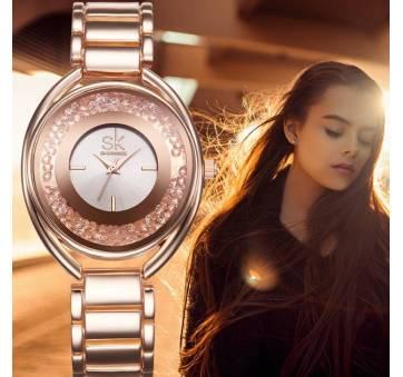 Женские Часы наручные SK золотистые 2657