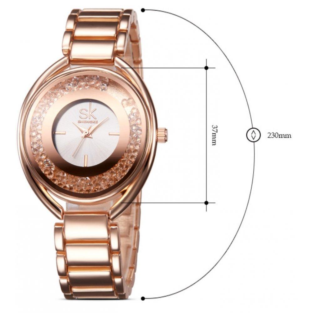 Женские Часы наручные SK серебристые 2658