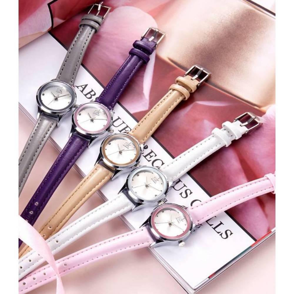 Женские Часы наручные SK розовые 2660