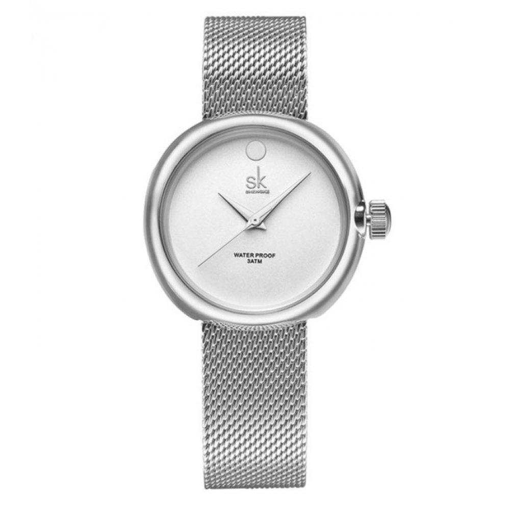 Женские Часы наручные SK серебристые 2663