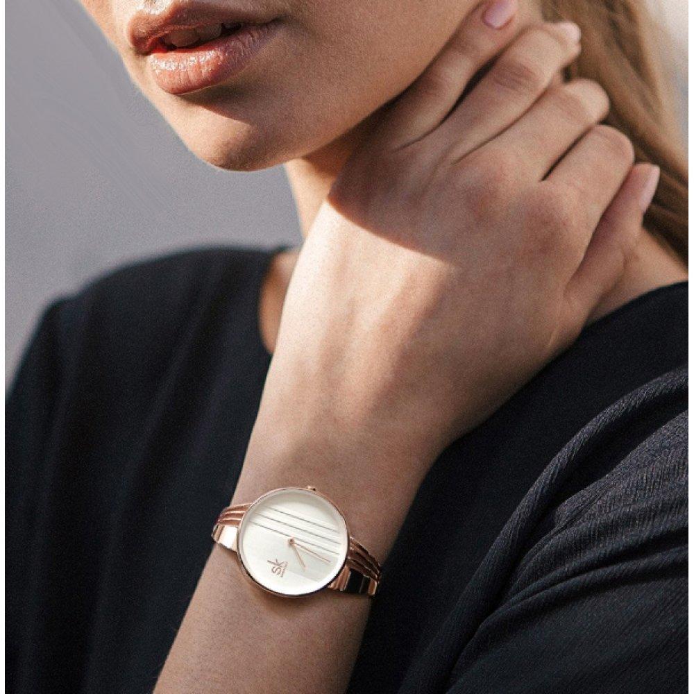 Женские Часы наручные SK золотистые 2664