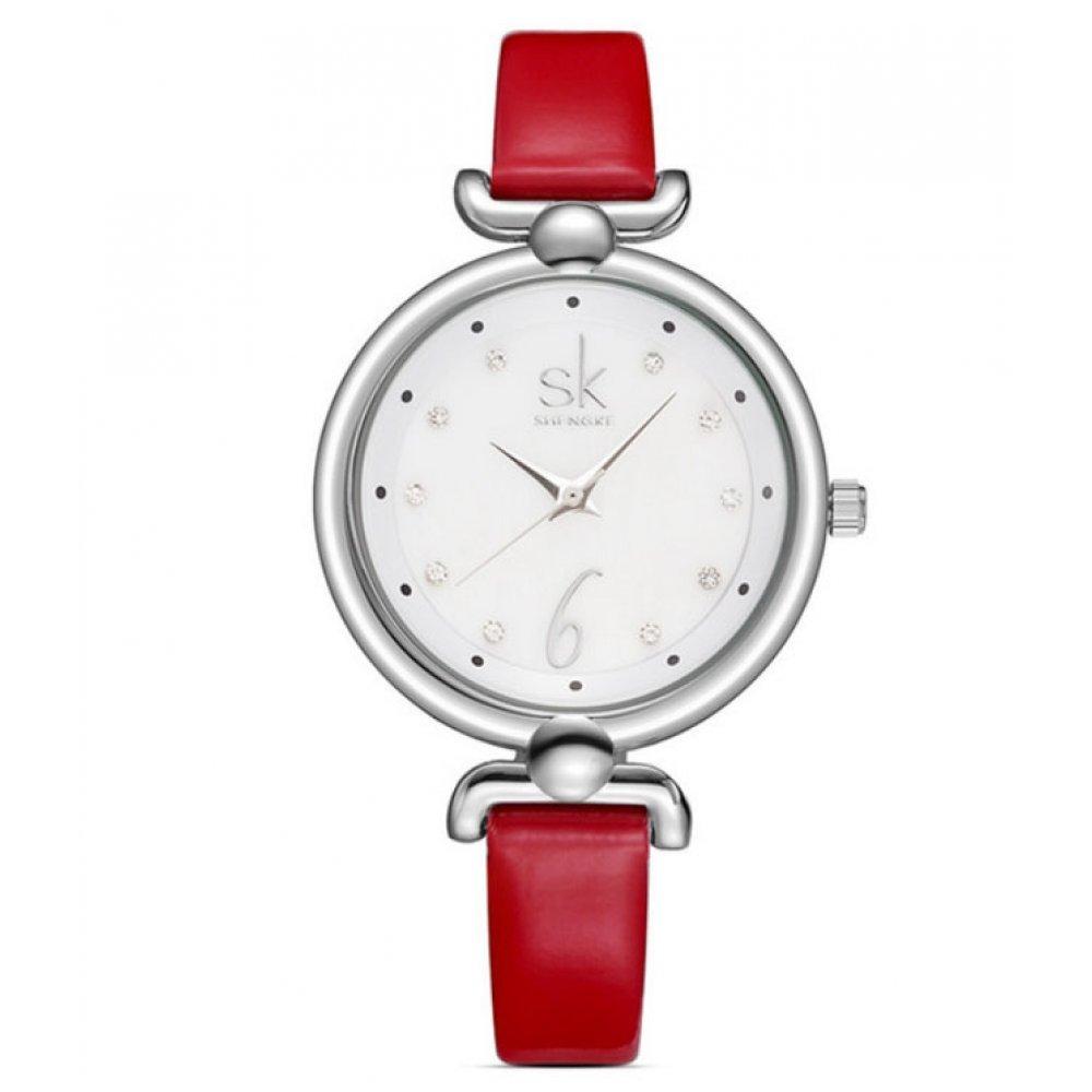 Женские Часы наручные SK красные 2665
