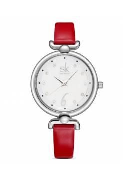 Женские часы SK красные