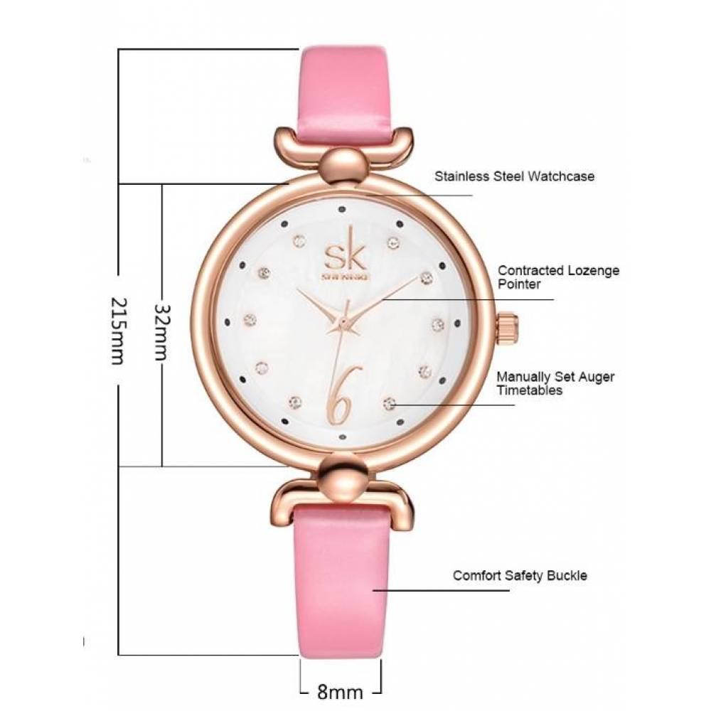 Женские Часы наручные SK розовые 2666