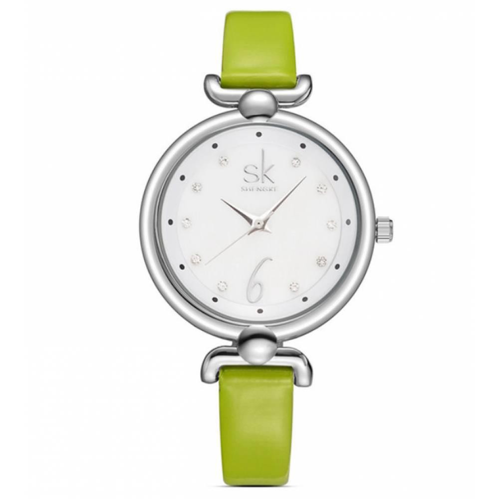 Женские Часы наручные SK зеленые 2667