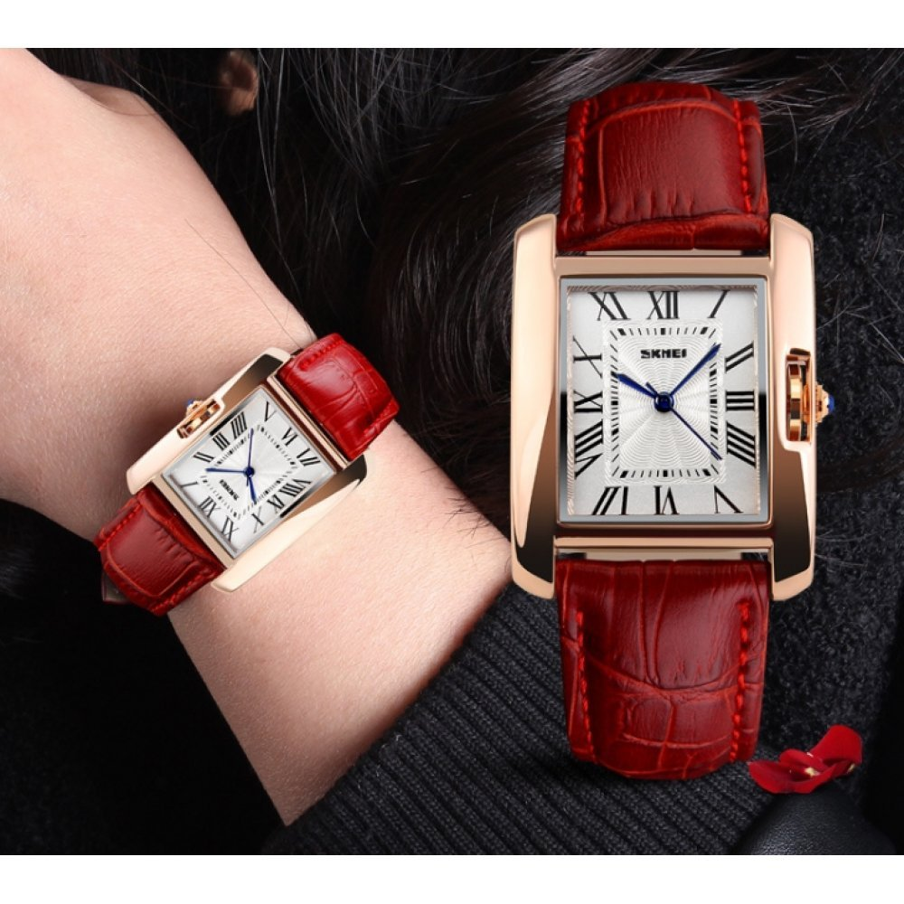 Женские Часы наручные SKMEI красные 2673