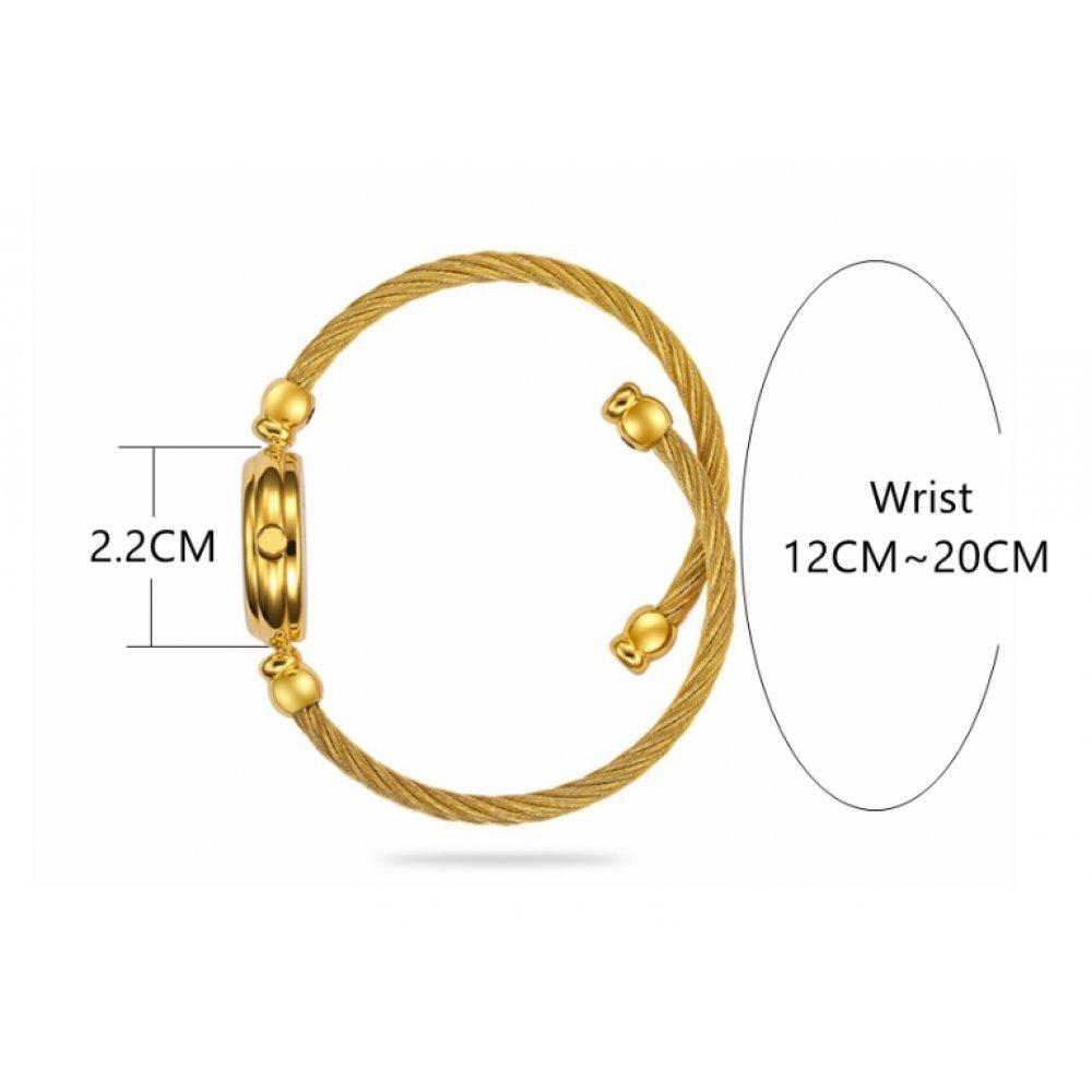Женские Часы наручные HR золотые с черным 2678