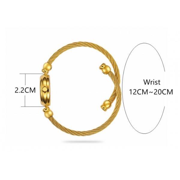 Часы HR золотые с белым 2677