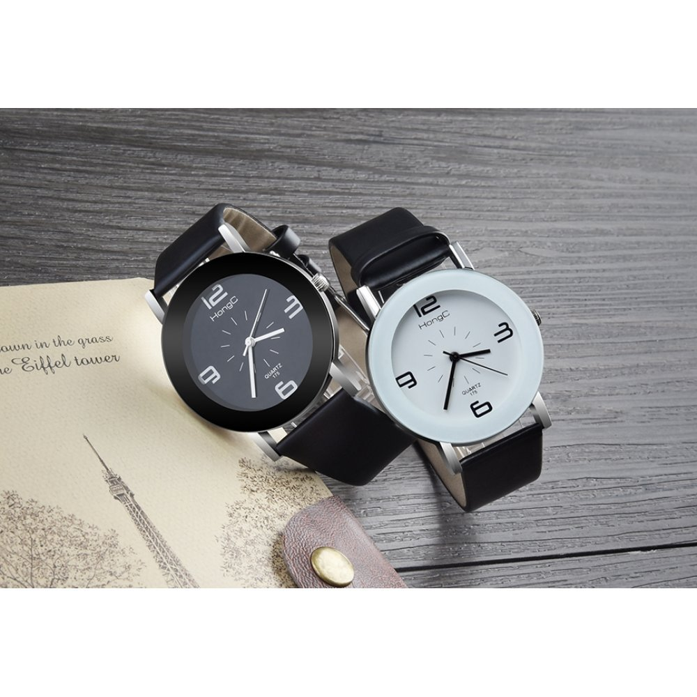 Женские Часы наручные HongC белые черным 2711