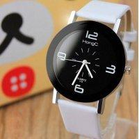 Часы HongC белые черным