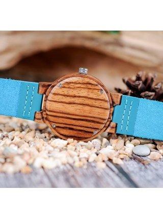 Часы BB дерево бирюзовые