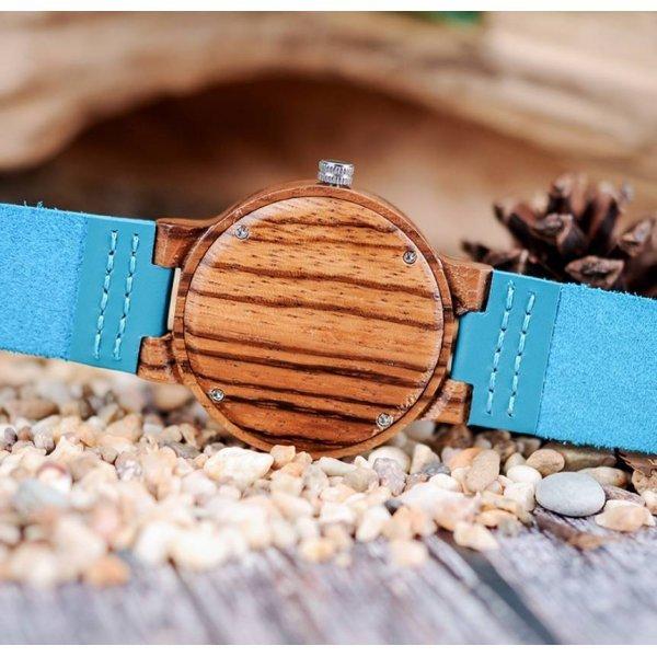 Часы BB дерево бирюзовые 2714