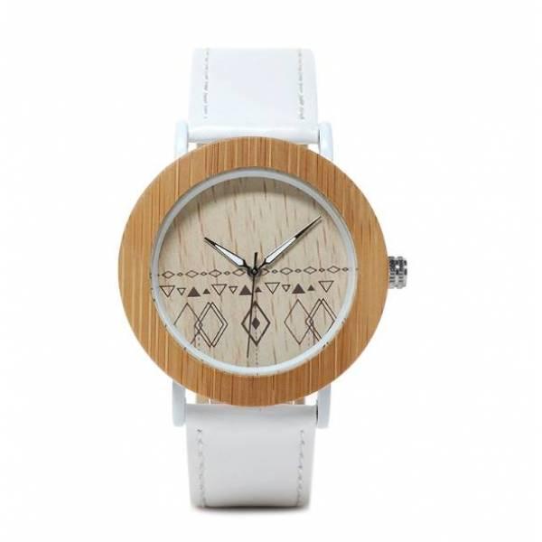 Часы BB дерево белые 2715