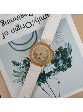 Часы BB дерево белые