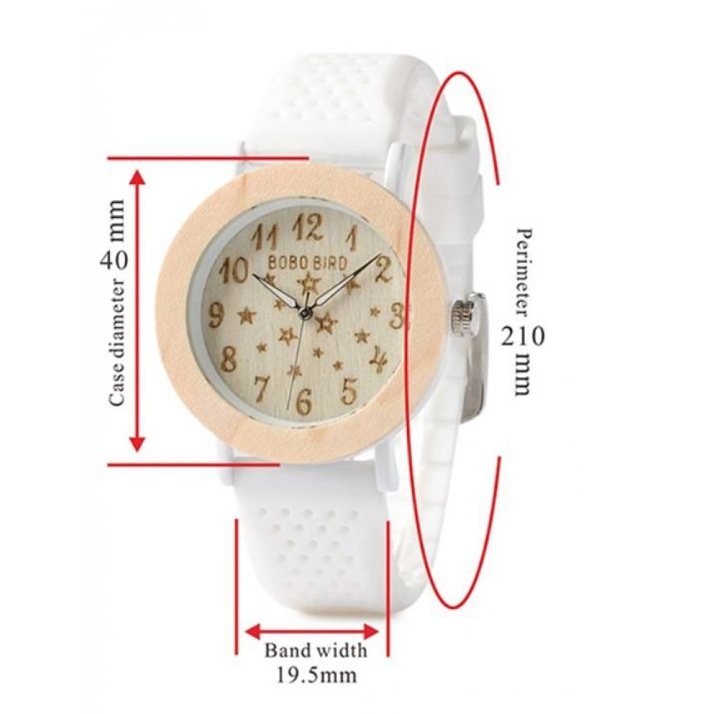 Женские Часы наручные BB дерево белые 2716