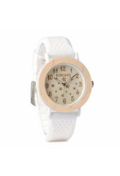 Женские часы BB дерево белые