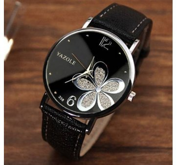 Женские Часы наручные Yazole, черные 2731