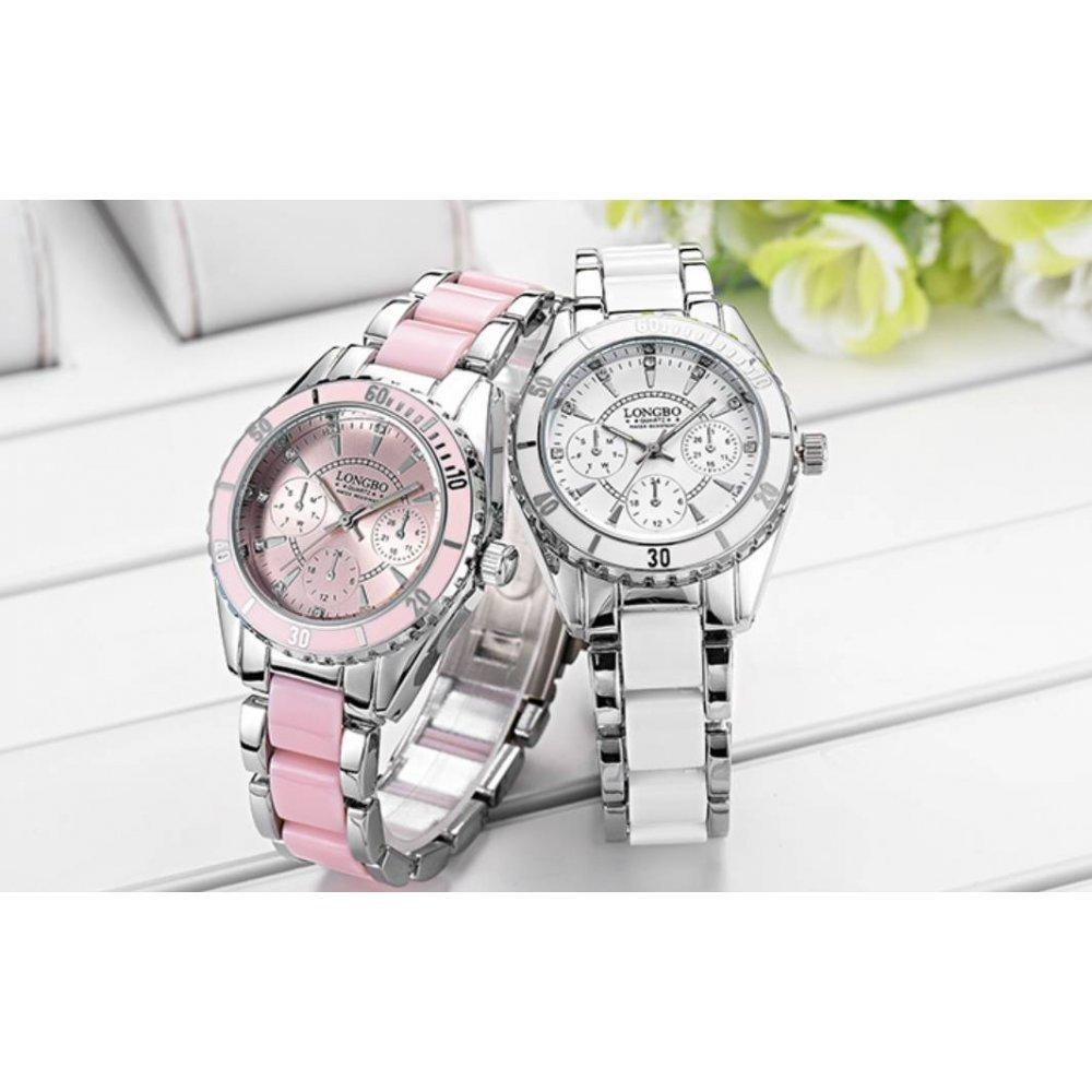 Женские Часы наручные LONGBO розовые 2736
