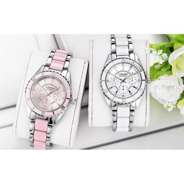 Часы LONGBO розовые 2736