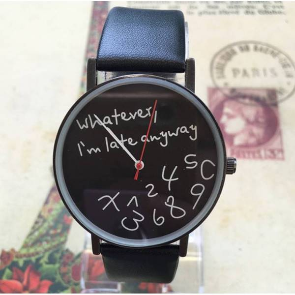Часы черные  2741