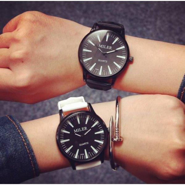 Часы MILER белые с черным 2754