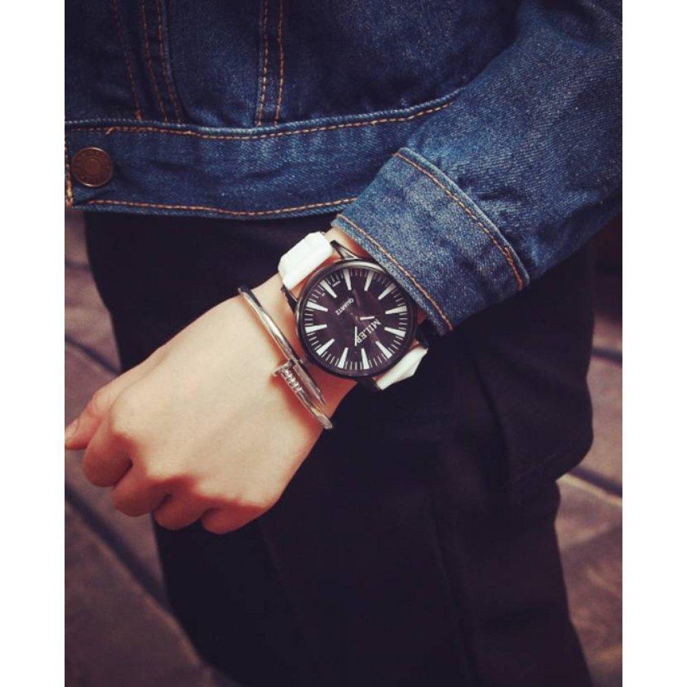 Женские Часы наручные MILER белые с черным 2754