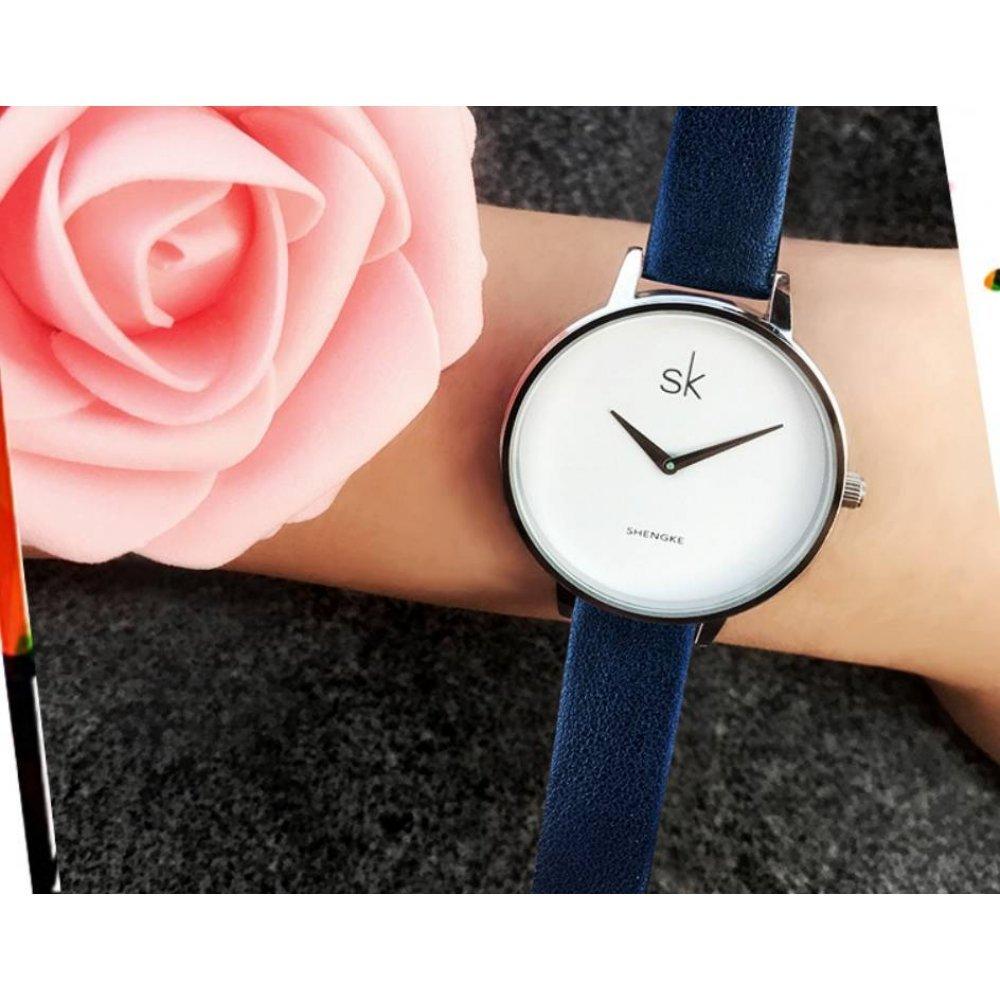 Женские Часы наручные SK синие 2763